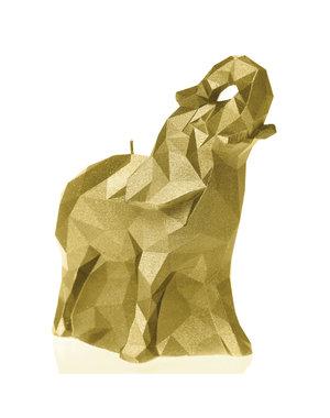 Candellana Kaars olifant small goud