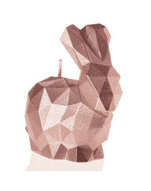 Candellana Kaars konijn klein rosé goud