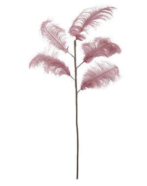 Light & Living Ornament 5 veren 129 cm FEATHER oud  roze