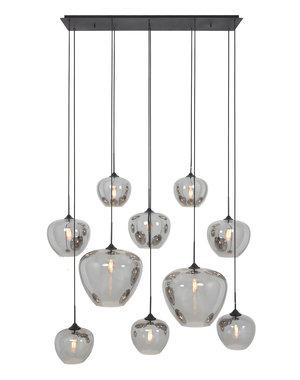 Light & Living Hanglamp Mayson Smoke met 10 lampen