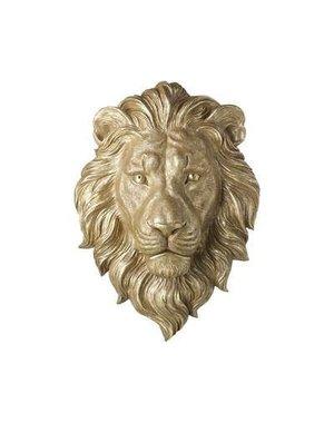Parlane Muurdecoratie 35,5x14x50 cm LEO goud