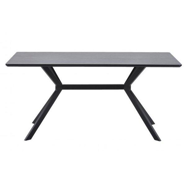 Woood Eettafel Bruno rechthoek mdf zwart 200x90 cm
