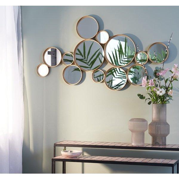 Light & Living Spiegel CIELO cirkels  mat zwart of goud 127 cm