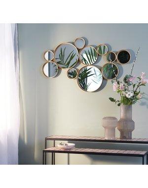 Light & Living Spiegel CIELO cirkels  mat zwart of goud 99 cm