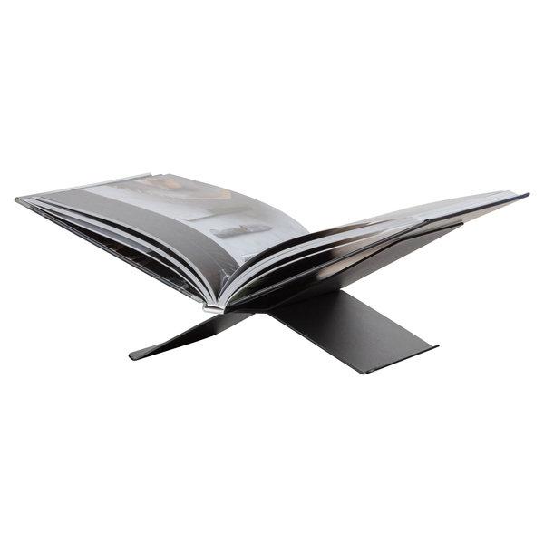 Woood Brook Boekenstandaard Liggend Metaal Zwart