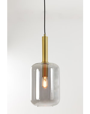 Light & Living Hanglamp Ø22x52 cm LEKAR antiek  brons+smoke glas
