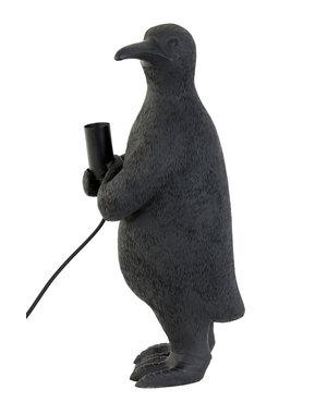 Light & Living Tafellamp E14 pinguïn mat zwart - Diverse afmetingen