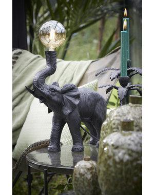 Light & Living Tafellamp E14 37x14x36 cm ELEPHANT  mat zwart