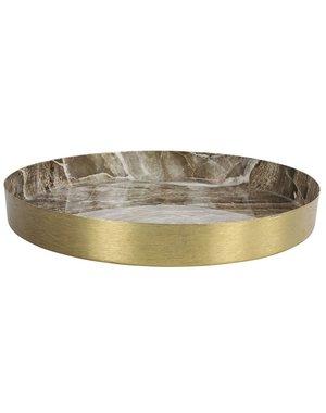 Countryfield Dienblad Marble L goud