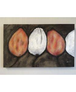 Schilderij Tulp 100x60 cm
