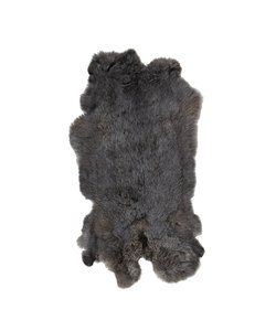 Vacht Konijn Zwart-bruin 60x50 cm