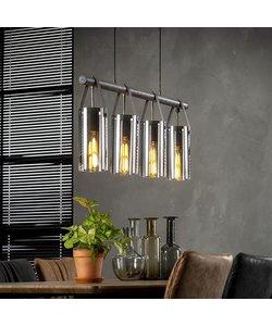 Hanglamp 4xØ20 Verchroomd Glas