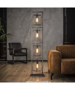Vloerlamp 4x Cubic Tower