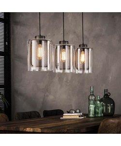 Hanglamp 3xØ20 Raster-Glas