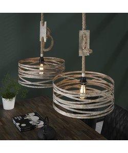 Hanglamp 2xØ40 Twist Verstelbaar Touw