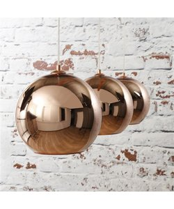 Hanglamp 3L Globe koper