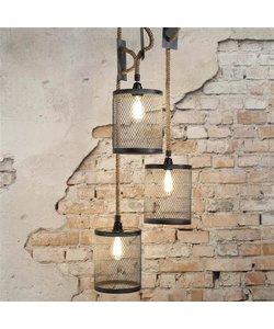 Hanglamp 3xØ20 Mesh Verstelbaar Touw Getrapt