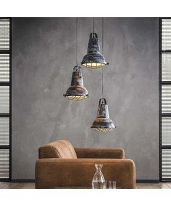 Hanglamp 3xØ42 Metaal Raster