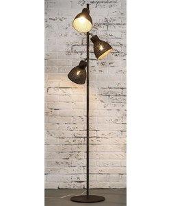 Vloerlamp 3L Vintage Metaal bruin