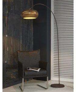 Vloerlamp Boog Carta bruin