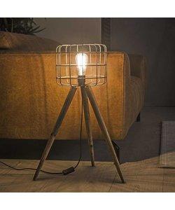 Vloerlamp Korf Houten Driepoot