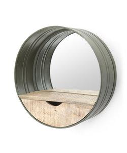 Ronde Spiegel met Lade - groen