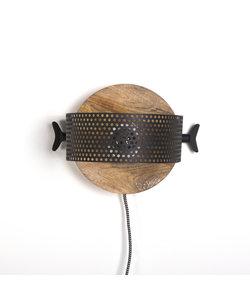 Wandlamp La Forge zwart