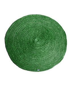 Vloerkleed Jute round 120x120 cm - groen