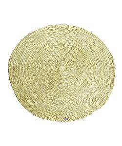 Vloerkleed Jute round 120x120 cm - geel