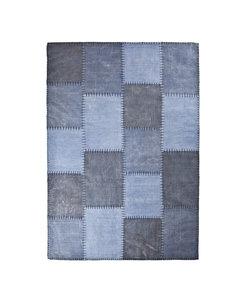 Vloerkleed Patchwork Mono 200x290 cm - blauw