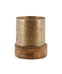 Windlicht Bazar 29x29 - copper