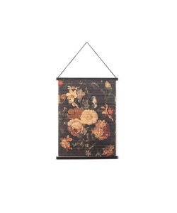 Wandkaart Miyagi flowers - small