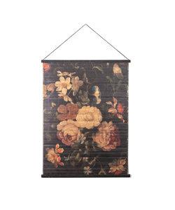Wandkaart Miyagi flowers - large