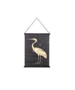 Wandkaart Miyagi bird - small