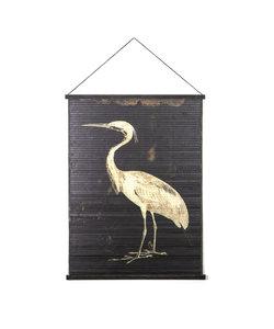 Wandkaart Miyagi bird - large