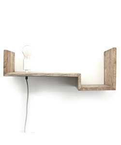 Wandlamp Top Shelf 75 cm natural