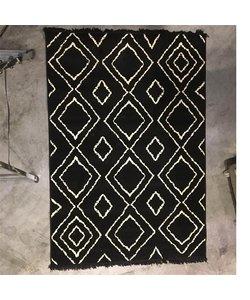 Vloerkleed Groove 160x230 cm - zwart