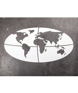 Muurdeco Wereldkaart