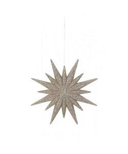Decoratieve hanger Ø12 cm STAR licht goud