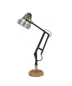 Bureaulamp 41x19x75 cm JACKSON mat zwart-antiek brons