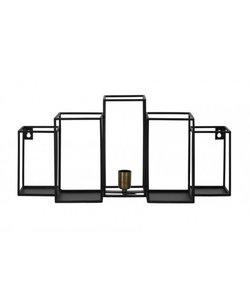 Wandlamp 65x20x30 cm BALLY mat zwart