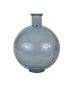 Vaas Ø34x42 cm RALLOCI glas licht blauw