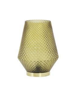 Tafellamp LED Ø12x17 cm TOVI glas oker geel
