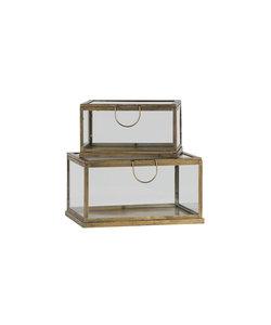 Set van 2 glazen opbergboxen