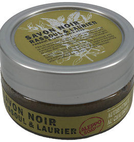 Zwarte zeepscrub rassoul & laurier