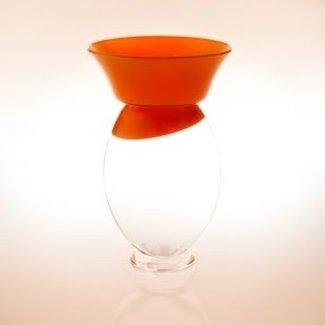 Siem van der Marel (Glaskunstenaar) Oranjevaasje-Koningsvaasje