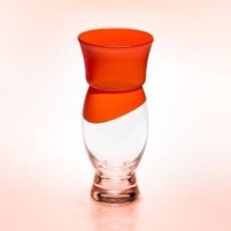Siem van der Marel (Glaskunstenaar) Oranjevaasje- Maxima