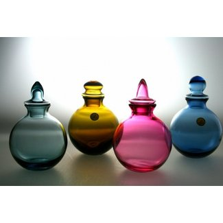 Siem van der Marel (Glaskunstenaar) Kristallen karafjes vd Marel