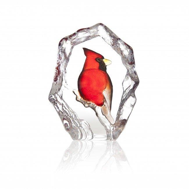 Mats Jonasson (Glaskunstenaar) Kardinaal vogel van Mats Jonasson