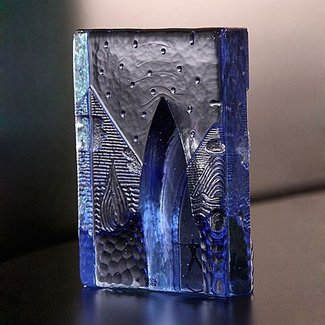 Bertil Vallien (Glasblazer) Kosta Boda four elements